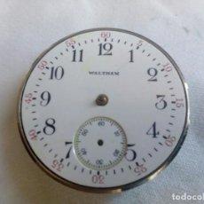 Relojes de bolsillo: MAQUINARIA DE RELOJ DE BOLSILLO DE LA MARCA ESTADOUNIDENSE WALTHAM DEL TAMAÑO 0 SIZE.. Lote 213533881