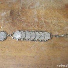 Relojes de bolsillo: ANTIGUA E HISTORICA LEONTINA CON MONEDAS IMPERIO AUSTRO-HUNGARO-AÑO 1890- LOTE 259. Lote 213542765