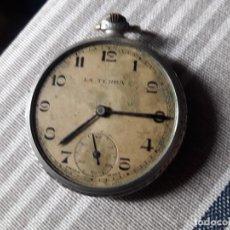 Relojes de bolsillo: RELOJ DE BOLSILLO LA TERRA MADE IN SWISS A RESTAURAR. Lote 213555007