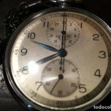Relógios de bolso: RELOJ ED HEUER & CO. SWISS VALJOUX 61 POCKET CHONOGRAPH CON 2 REGISTRO, GRABACION 1/5 DE SEGUNDO. Lote 214238791