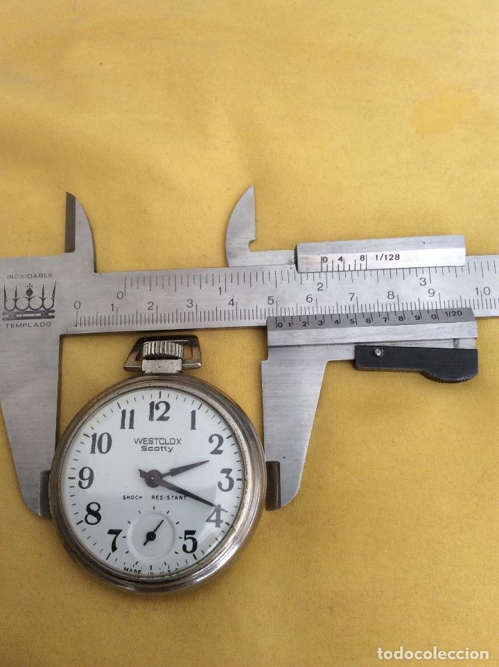 Relojes de bolsillo: WESTCLOX SCOTTY RELOJ DE BOLSILLO SHOCK RESISTANT - Foto 2 - 214924352