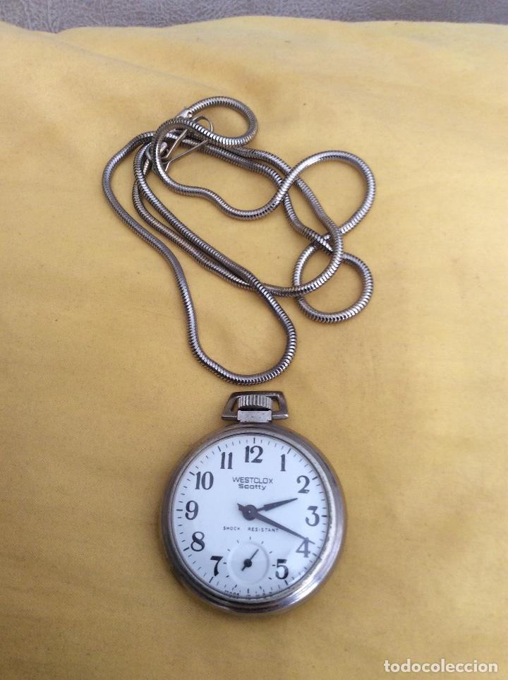 Relojes de bolsillo: WESTCLOX SCOTTY RELOJ DE BOLSILLO SHOCK RESISTANT - Foto 3 - 214924352