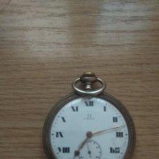 Relógios de bolso: RELOJ OMEGA DE PLATA. Lote 215392408