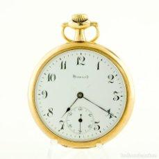 Relojes de bolsillo: E. HOWARD WATCH CO. (BOSTON). RELOJ DE BOLSILLO PARA CABALLERO, LEPINE Y REMONTOIR. ORO 14K.. Lote 215550651