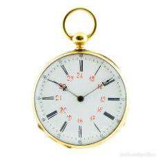 Relojes de bolsillo: RELOJ SUIZO DE BOLSILLO, LEPINE Y REMONTOIR. CA. 1890. ORO 18K.. Lote 215551296