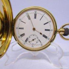 Relojes de bolsillo: RELOJ SUIZO DE BOLSILLO, SABONETA Y REMONTOIR. ORO 14K. CA. 1890. Lote 215551901