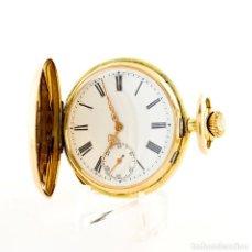 Relojes de bolsillo: RELOJ SUIZO DE BOLSILLO, SABONETA Y REMONTOIR. ORO 14K. CA. 1890. Lote 215552402