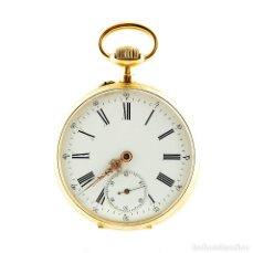 Relojes de bolsillo: RELOJ SUIZO DE BOLSILLO, LEPINE Y REMONTOIR. CA. 1900. ORO 18K.. Lote 215557070