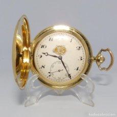 Relojes de bolsillo: MOVADO. RELOJ DE BOLSILLO PARA CABALLERO, SABONETA Y REMONTOIR. SUIZA, CA. 1910. ORO 18K. Lote 215558183