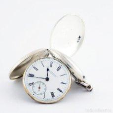 Relojes de bolsillo: SKARRATT & CO. (WORCESTER). (BIAN LOOMES, PÁG. 214). RELOJ DE BOLSILLO. PLATA. SABONETA, HALF FUSEE. Lote 215560145