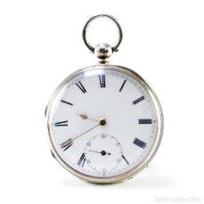 Relojes de bolsillo: A. KLEISER & CO. RELOJ DE BOLSILLO PARA CABALLERO. PLATA. LEPINE, HALF FUSEE (SEMICATALINO). LONDRES. Lote 215561053