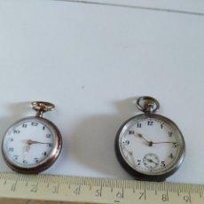 Relojes de bolsillo: 2 PEQUEÑOS RELOJES DE BOLSILLO. Lote 215796076