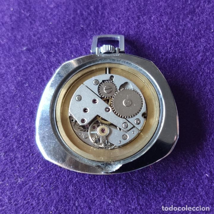Relojes de bolsillo: ANTIGUO RELOJ DE BOLSILLO THERMIDOR. 17 RUBIS. SWISS. CARGA MANUAL-CUERDA. AÑOS 60. CABALLERO - Foto 4 - 216579741