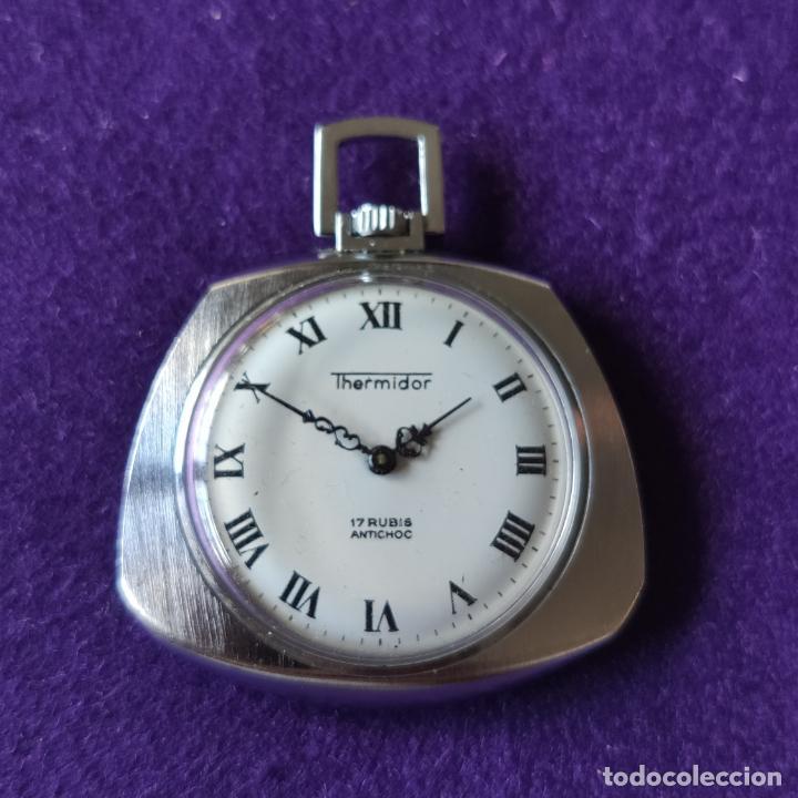 ANTIGUO RELOJ DE BOLSILLO THERMIDOR. 17 RUBIS. SWISS. CARGA MANUAL-CUERDA. AÑOS 60. CABALLERO (Relojes - Bolsillo Carga Manual)