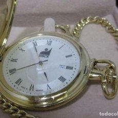 Relojes de bolsillo: PRECIOSO RELOJ BOLSILLO IG-BCE RELOJ DE BOLSILLO CON UNA LARGA CADENA DE RELOJES (Q). VER FOTOS.. Lote 217104502