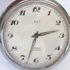 Relojes de bolsillo: E.B.F. - COLOR PLATA HERMOSO RELOJ DE BOLSILLO CON MOTIVO DE FERROCARRIL-TRENES. VER FOTOS. Lote 217107401