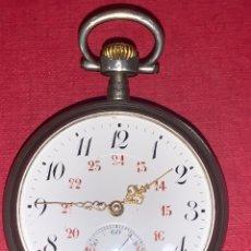 Relojes de bolsillo: MAGNÍFICO RELOJ DE BOLSILLO DEL SIGLO XIX EN PLATA DE LEY. FUNCIONA. Lote 217325625