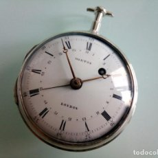 Relojes de bolsillo: RELOJ CATALINO CON CALENDARIO CENTRAL, S. XVIII.. Lote 217468256