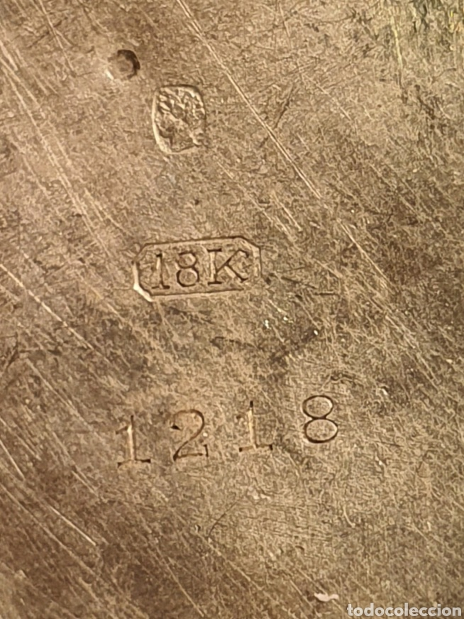 Relojes de bolsillo: Antiguo reloj. L. Hirondelles. Bolsillo. Oro de 18 Quilates. - Foto 4 - 217753102