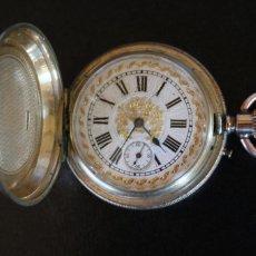 Relojes de bolsillo: RELOJ SABONETA BOLSILLO - JEANNOT GENEVE - ANCRE LIGNE DROITE - ORO 15 RUBIS - EN ESTADO DE MARCHA. Lote 217845041