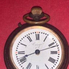 Relojes de bolsillo: ANTIGUO RELOJ DE BOLSILLO CONGO P.V EN METAL PAVONADO. SIGLO XIX. FUNCIONA. Lote 217940596