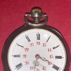 Relojes de bolsillo: PRECIOSO RELOJ DE BOLSILLO DE PLATA, MODERNISTA. PRECIOSA CAJA. FUNCIONA PERFECTAMENTE BOCA A BAJO.. Lote 217941083