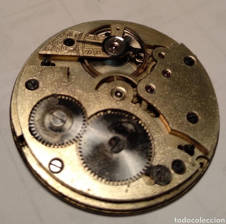 Relojes de bolsillo: Antiguo reloj. L. Hirondelles. Bolsillo. Oro de 18 Quilates. - Foto 5 - 217753102