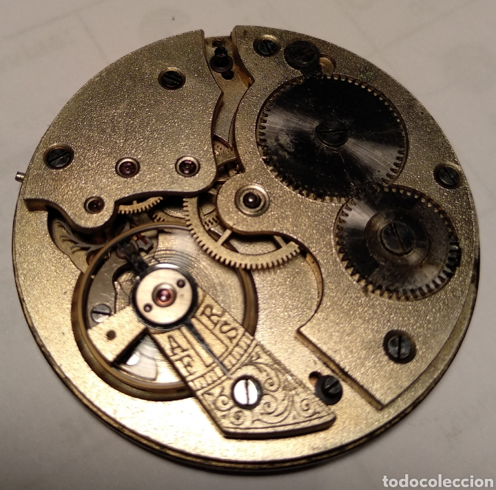 Relojes de bolsillo: Antiguo reloj. L. Hirondelles. Bolsillo. Oro de 18 Quilates. - Foto 6 - 217753102