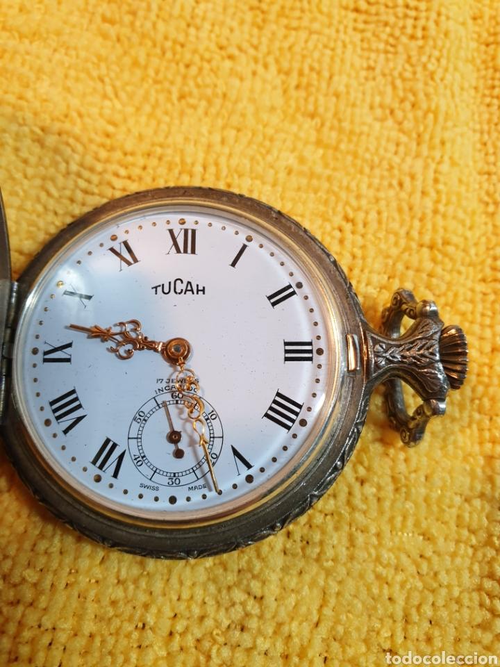 ANTIGUO RELOJ BOLSILLO CARGA MANUAL TUCAH SUIZO (Relojes - Bolsillo Carga Manual)