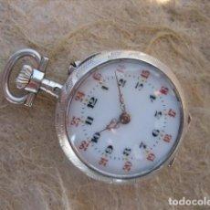 Relojes de bolsillo: RELOJ DE BOLSILLO SUIZO PARA MUJER, DE ORO Y PLATA, DE 1870. Lote 218002406