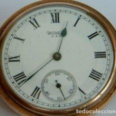 Relojes de bolsillo: ANTIGUO RELOJ DE BOLSILLO NORTEAMERICANO DE LA MARCA WALTHAM CHAPADO EN ORO, HACIA 1899.. Lote 218042070