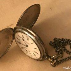 Relojes de bolsillo: RELOJ DE BOLSILLO DE PLATA, LONGINES, FABRICADO PARA ALBERTO GROSA CONCORDIA, 1900.. Lote 218086862