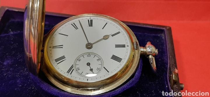 Relojes de bolsillo: RELOJ INGLÉS SEMICATALINO DE PLATA J. SEWILL, CON MARCAS, FUNCIONADO. - Foto 3 - 218187706