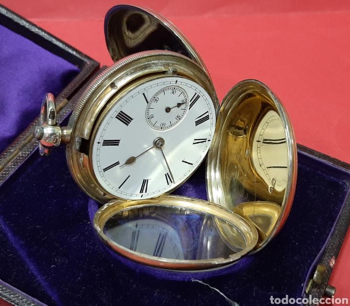 Relojes de bolsillo: RELOJ INGLÉS SEMICATALINO DE PLATA J. SEWILL, CON MARCAS, FUNCIONADO. - Foto 7 - 218187706