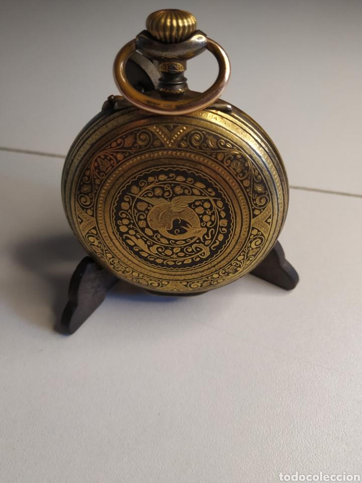 Relojes de bolsillo: Precioso reloj de bolsillo DISPERTADOR o con soneria - Foto 2 - 218192717