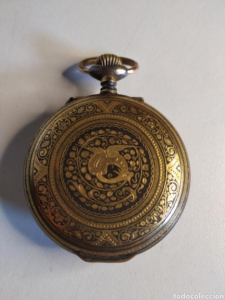 Relojes de bolsillo: Precioso reloj de bolsillo DISPERTADOR o con soneria - Foto 3 - 218192717
