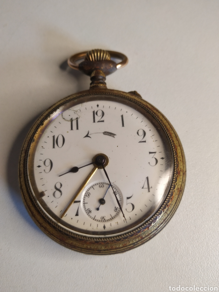 Relojes de bolsillo: Precioso reloj de bolsillo DISPERTADOR o con soneria - Foto 4 - 218192717