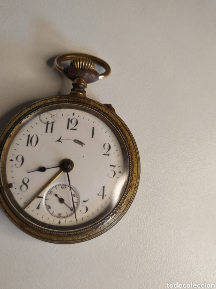 Relojes de bolsillo: Precioso reloj de bolsillo DISPERTADOR o con soneria - Foto 5 - 218192717