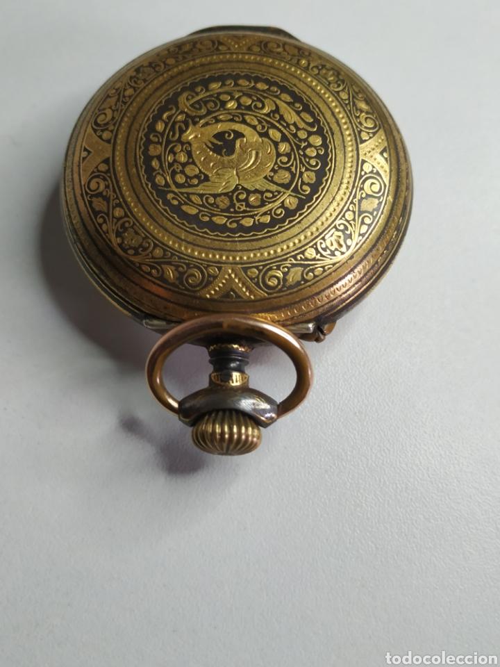 Relojes de bolsillo: Precioso reloj de bolsillo DISPERTADOR o con soneria - Foto 7 - 218192717