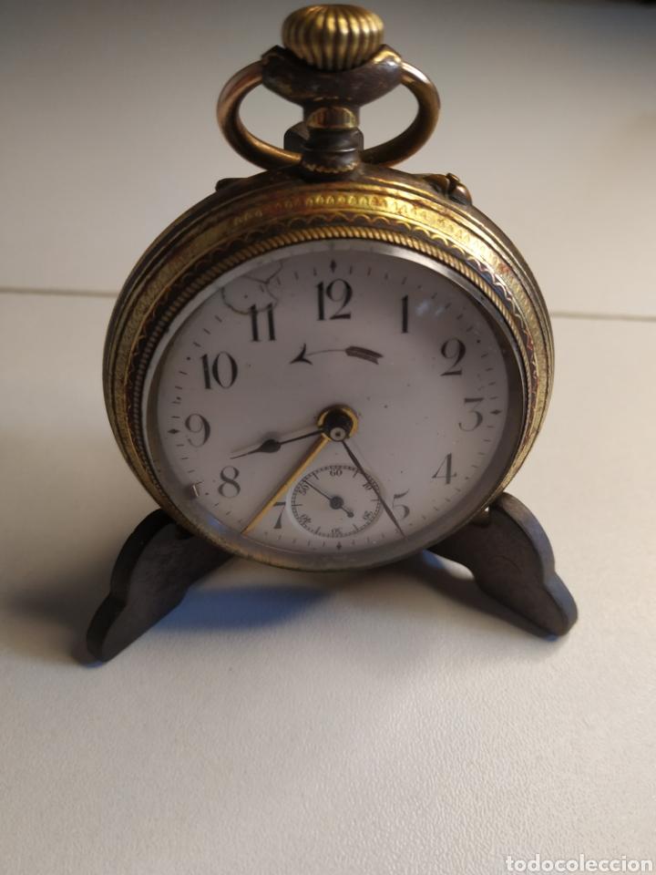 PRECIOSO RELOJ DE BOLSILLO DISPERTADOR O CON SONERIA (Relojes - Bolsillo Carga Manual)