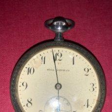 Relojes de bolsillo: ANTIGUO RELOJ DE BOLSILLO ZEDA WATCH. CO. FUNCIONA PERFECTAMENTE. Lote 218196040