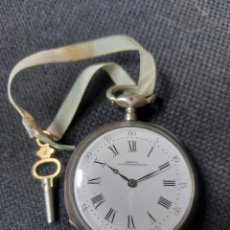 Relojes de bolsillo: RELOJ DE BOLSILLO DE PLATA LANSIGU. Lote 218209370