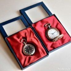 Relojes de bolsillo: DOS RELOJES DE BOLSILLO NUEVOS EN CAJAS. Lote 218211412