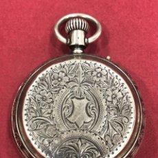 Relojes de bolsillo: ANTIGUO RELOJ DE BOLSILLO, DE 3 TAPAS, DE PLATA, DE FELIPE ALDAVERT. PLAZA PALACIO 5. BARCELONA.. Lote 218228435