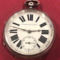 Orologi da taschino: FANTÁSTICO RELOJ DE BOLSILLO DE PLATA, SEMICATALINO. IMPROVED PATENT.. Lote 218234838