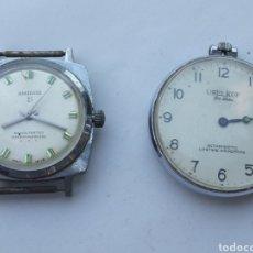 Relojes de bolsillo: LOTE DOS RELOJES ANTIGUOS.. Lote 218330936