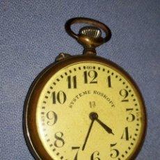 Relojes de bolsillo: ANTIGUO RELOJ DE BOLSILLO MARCA SYSTEME ROSKOPF 1ª. Lote 218608985