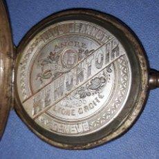 Relojes de bolsillo: ANTIGUO RELOJ DE BOLSILLO DE PLATA PAUL JEANNOT GENEVE MODELO MUY DIFICIL. Lote 218611573