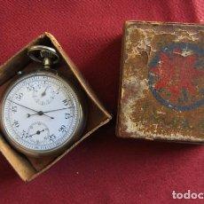 Relojes de bolsillo: ANTIGUO CRONÓMETRO MECÁNICO MILITAR ALEMÁN JUNGHANS II GUERRA MUNDIAL CON FUNCIÓN SPLIT Y FUNCIONA. Lote 218725380