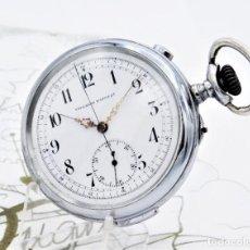 Relojes de bolsillo: REPETICIÓN-SONERÍA Y CRONOGRAFO-TAVANNES WATCH CO-RELOJ DE BOLSILLO-CIRCA 1895-1920-FUNCIONANDO. Lote 181518962